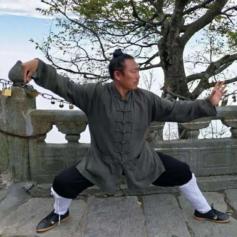Tenue de Wudang Taoïste fermeture centrale + gilet sans manches
