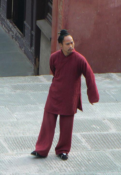 Tenue Mur de Wu Dang en lin dense