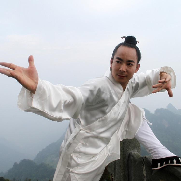 Tenue de Wudang style classique, soie élastique mat