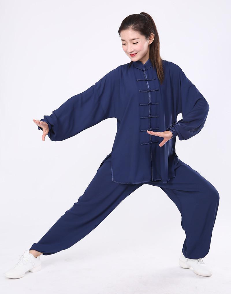 Tenue de Tai Chi / Wu Dang légère bleu marine