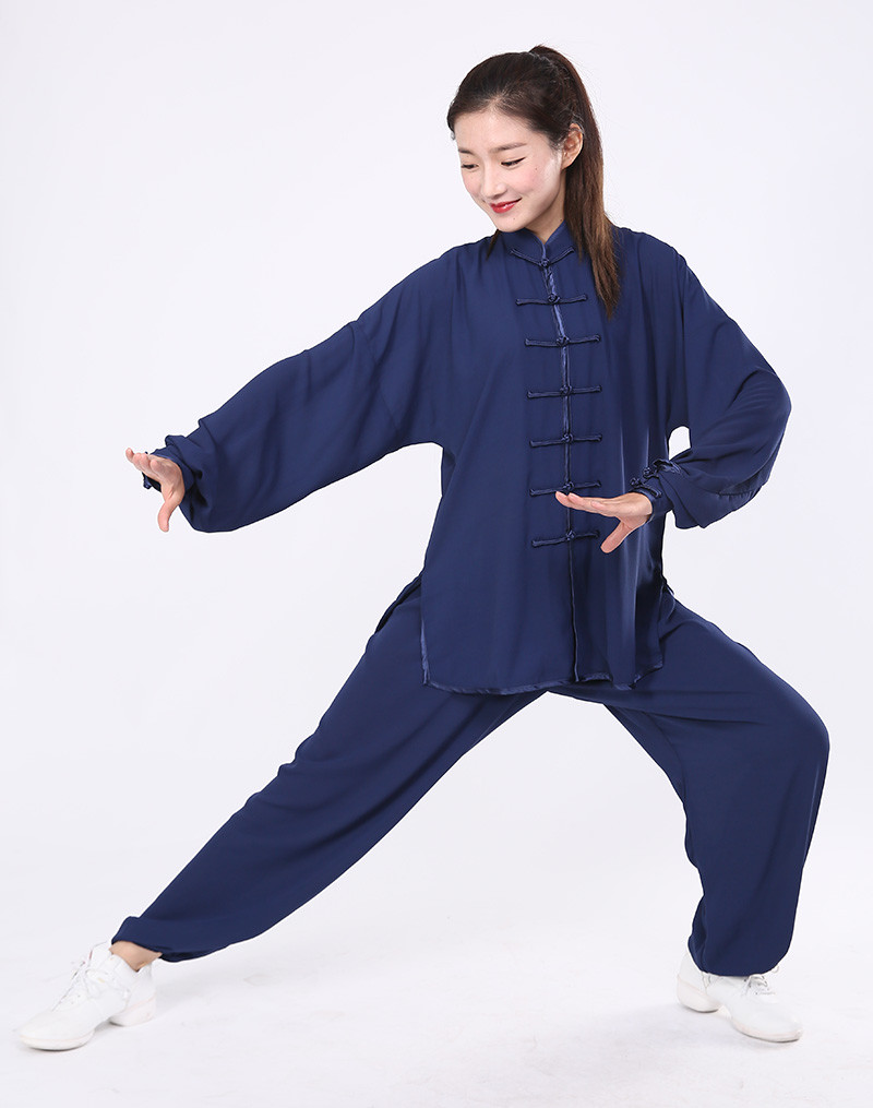 tenue de tai chi wu dang l g re bleu marine tenues tai chi tradition tai chi. Black Bedroom Furniture Sets. Home Design Ideas