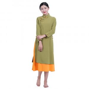 Veste robe longue chinoise femme 2 en 1