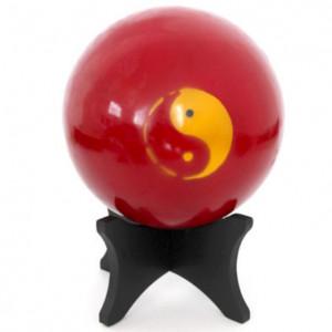 Balle de Tai Ji en bois Rouge foncé