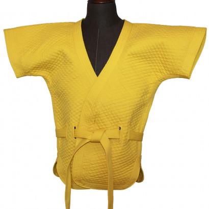 Veste jaune de Shuai Jiao épaisse en coton