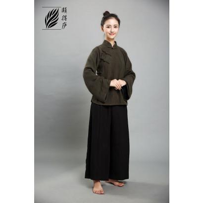 Veste chinoise femme latérale CHA