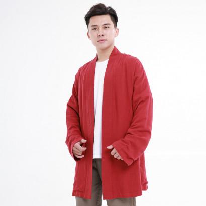 Manteau Hanfu moderne classique, rouge nouvel an