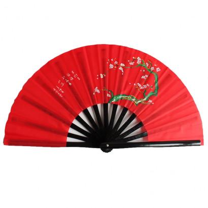 Éventail Tai Chi armatures en bambou - Mei Hua