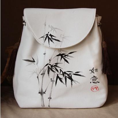 Sac à dos chinois peint à la main Bambou