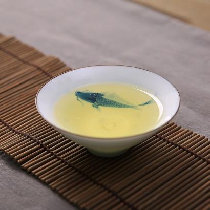 Peinture à la main poisson tasse à thé en céramique 50ml
