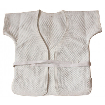 Veste blanche de Shuai Jiao épaisse en coton