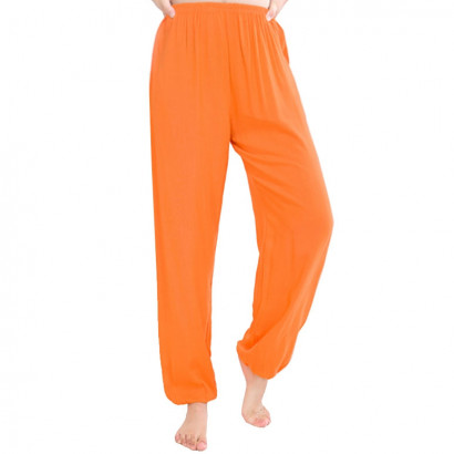 Pantalon Shaolin Kung Fu, Orange et Gris