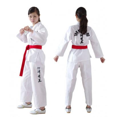 ITF DoBok TaeKwonDo Col V blanc