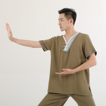 Tenue Chang Quan Kung Fu / Tai Chi personnalisée manches courtes pour l'été, Yun Shang