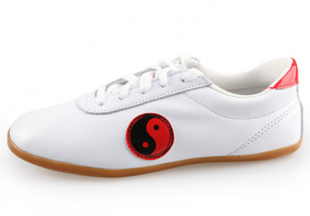 Chaussures Tai Chi classique cuir Yin & Yang