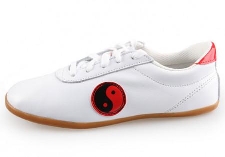 Chaussures Tai Chi classique cuir Yin & Yang