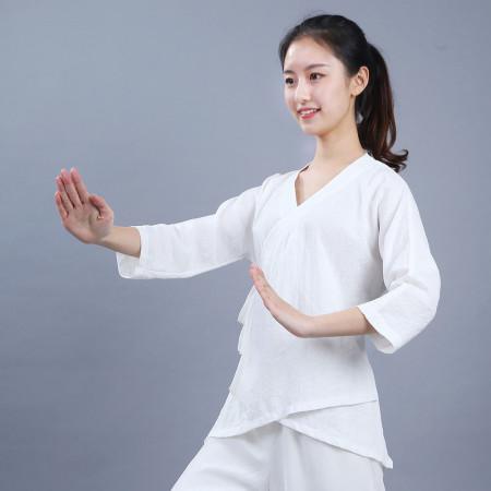 Veste de femme Qi Gong et méditation en coton et lin