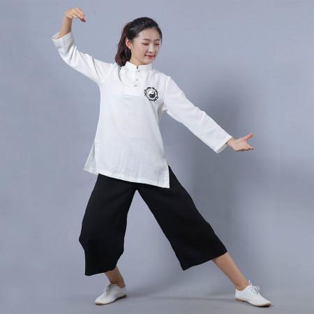 Tenue traditionnelle chinoise broderie Yin Yang pour l'été
